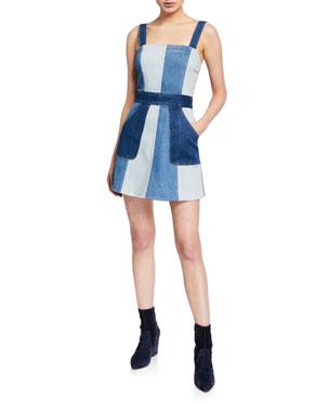 e707bf4bdbf ALICE + OLIVIA JEANS Jamie Denim Mini Dress with Pockets