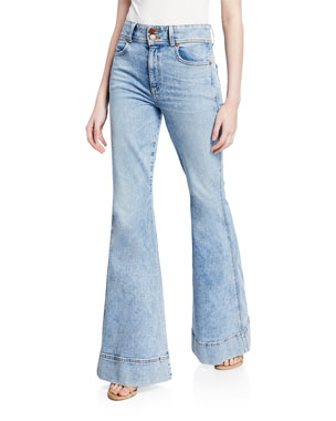 ec39c8ee7cca ALICE + OLIVIA JEANS Beautiful Ex High-Waist Bell Jeans