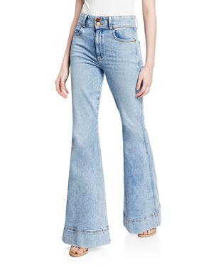 ec39c8ee7cca ALICE + OLIVIA JEANS Beautiful Ex High-Waist Bell Jeans