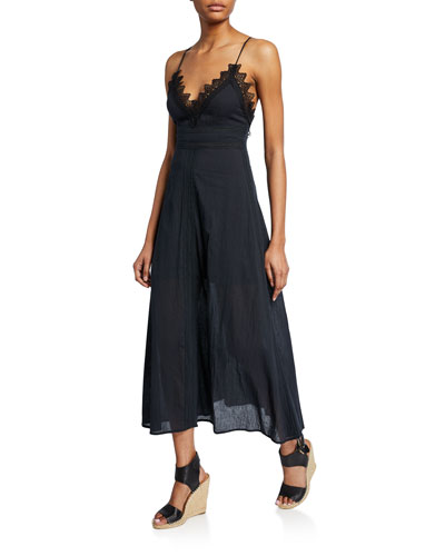Stefania V-Neck Strappy-Back A-Line Dress