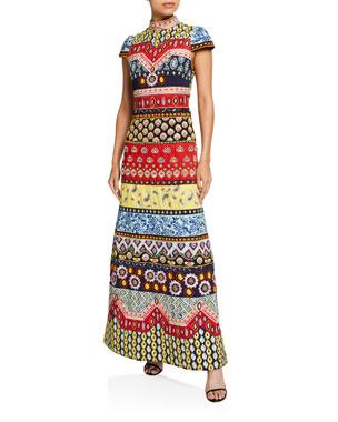 af25359cddd1 Alice + Olivia Arwen Embellished A-Line Gown