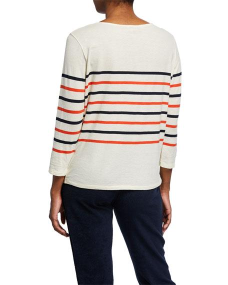 Kule The Malibu Striped Cotton T-Shirt