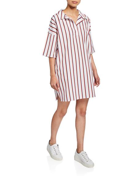 Kule The Izzy Striped Short-Sleeve Dress
