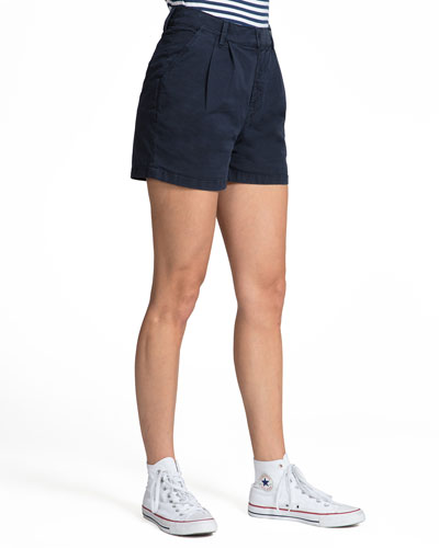 Double-Pleat Chino Shorts