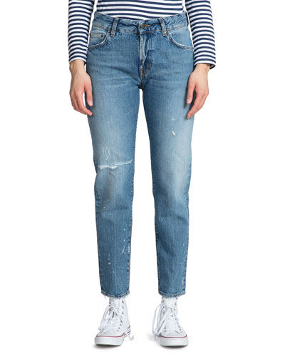 Delorean Cropped Mid-Rise Straight Jeans