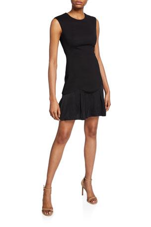 Rebecca Taylor Stacy Sleeveless Knit Short Dress