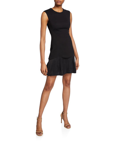 Stacy Sleeveless Knit Short Dress