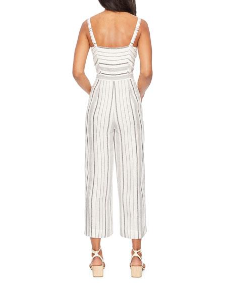 Parker Dominica Striped Sleeveless Wide-Leg Crop Jumpsuit