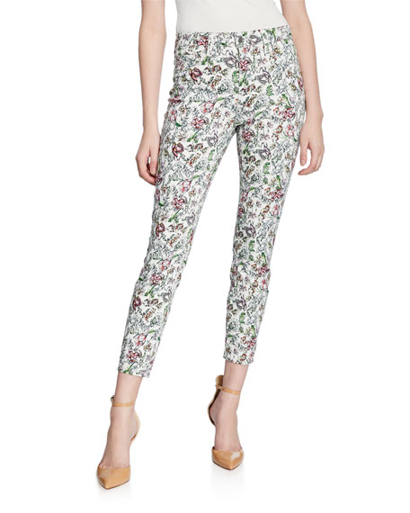 L'Agence Margot High-Rise Floral Skinny Jeans