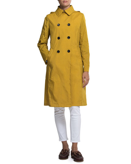Jane Post Crinkle Trench Coat w/ Hood