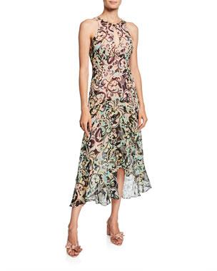 da3ab8edfa2b Nanette Lepore Hypnotic Printed Sleeveless Keyhole Dress