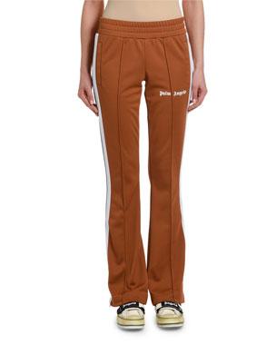 f6287b8783a293 Palm Angels Side-Stripe Skinny Logo Track Pants