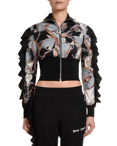 Bridle Rouches Cropped Track Jacket