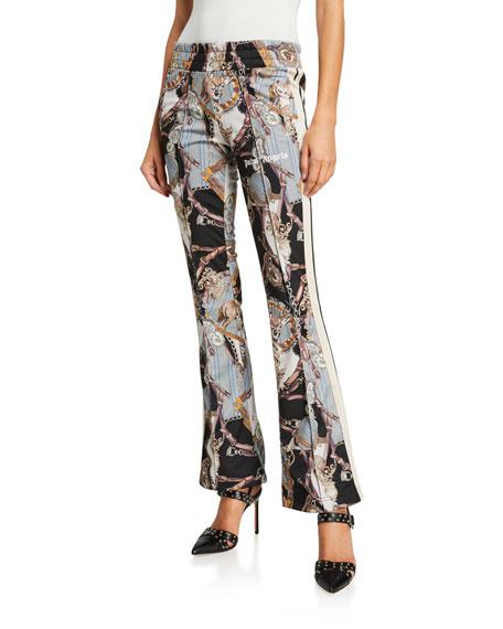 Palm Angels Bridle-Print Skinny Track Pants