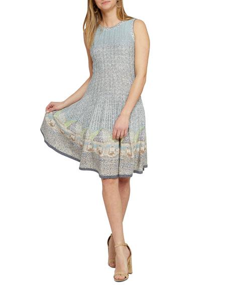NIC+ZOE Sunny Days Printed Sleeveless Twirl Dress