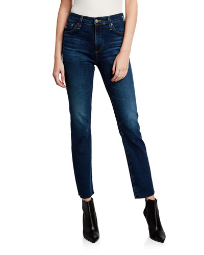 Mari High-Rise Slim-Leg Jeans