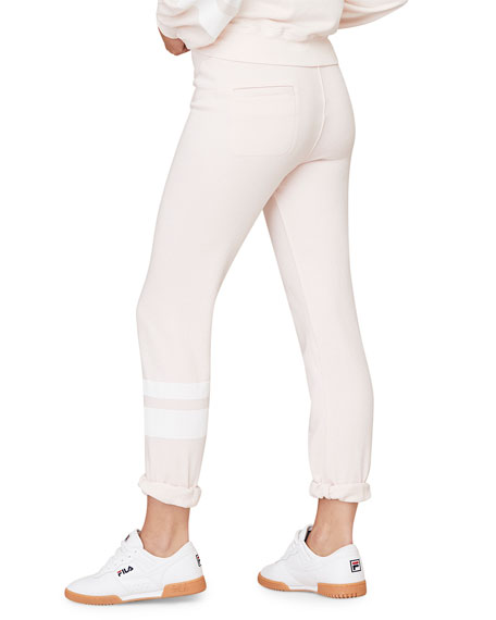 David Lerner Classic Joggers with Stripes