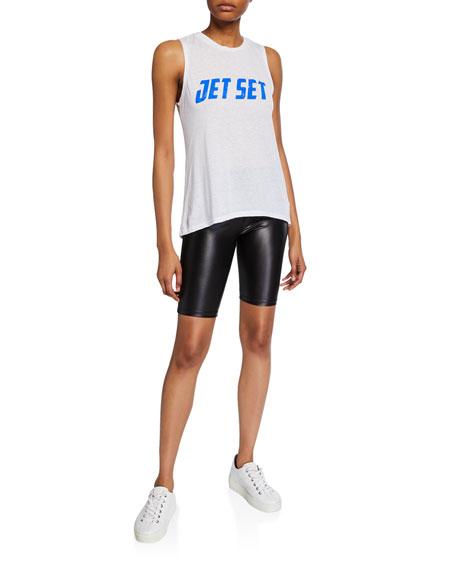 David Lerner Wet Look Bike Shorts
