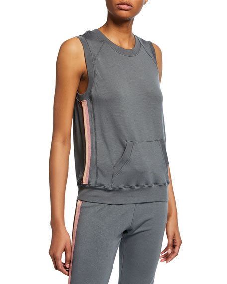 David Lerner Sleeveless Pullover with Side Taping