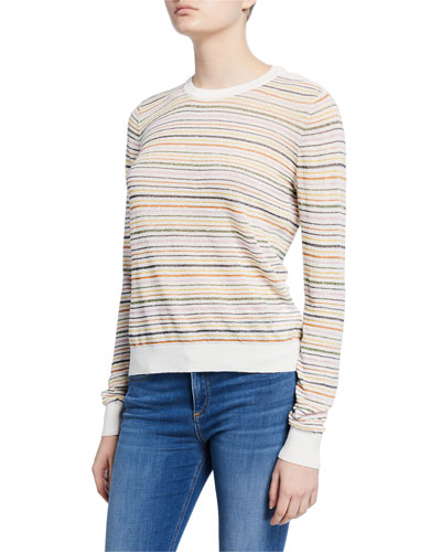 Ade Striped Linen Pullover Sweater