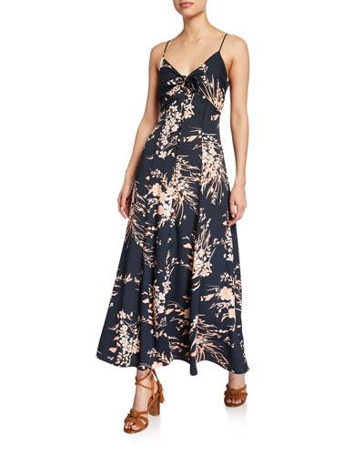 Almona Floral-Print Spaghetti-Strap Dress