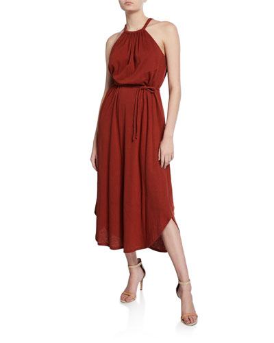 Meribah High-Low Halter Dress