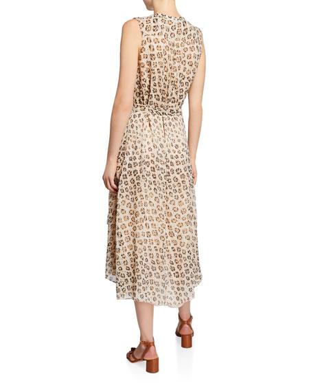 Joie Corrin Leopard-Print Sleeveless High-Low Dress