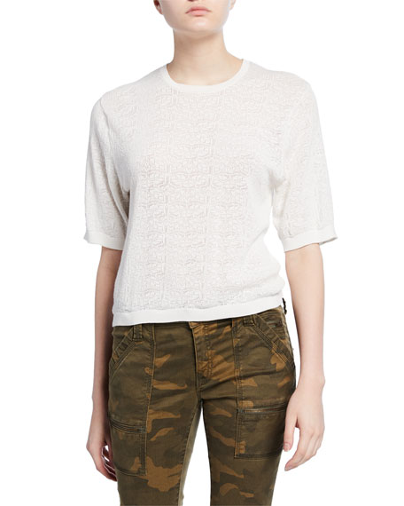 Joie Brikly Knit Short-Sleeve Top