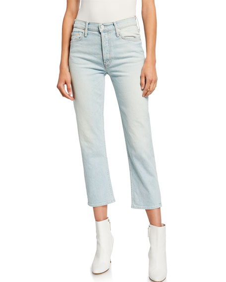 MOTHER The Tomcat High-Rise Relaxed Crop Jeans