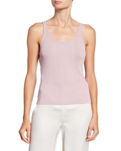 Scoop-Neck Drop Needle Tank