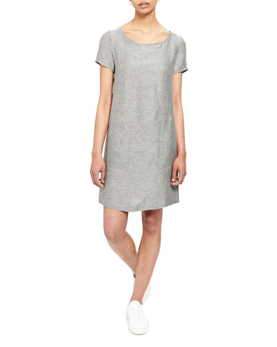 Structured Linen Tee Dress