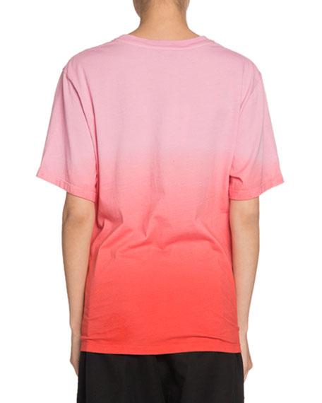 Proenza Schouler PSWL Ombre Tie-Dye Short-Sleeve Logo Jersey T-Shirt