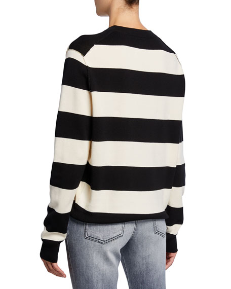Zadig & Voltaire Life Co Love Cotton Printed Striped Shirt