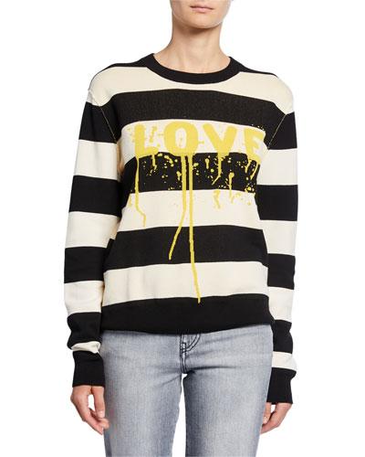 Life Co Love Cotton Printed Striped Shirt