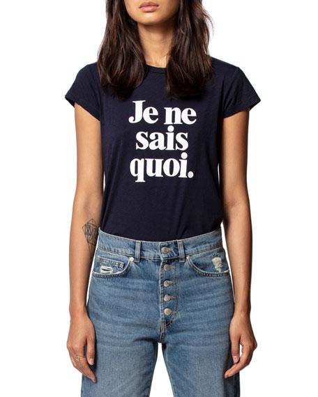 Zadig & Voltaire Skinny Je Ne Sais Quoi Printed T-Shirt