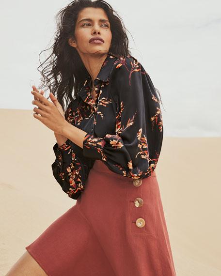 Equipment Danton Floral Button-Down Shirt