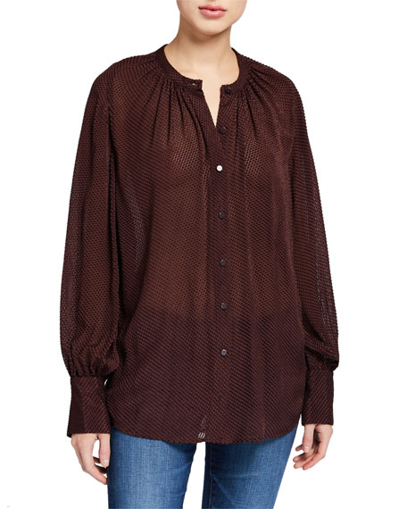 Image 2 of 3: Equipment Corbette Button-Down Long-Sleeve Blouse