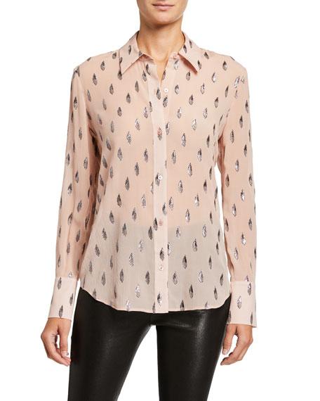 Equipment Sedienne Printed Long-Sleeve Button-Down Shirt
