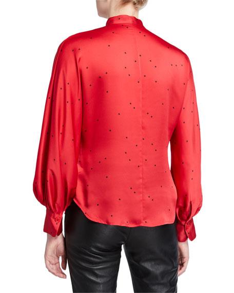 Equipment Gabin Printed Mock-Neck Button-Down Shirt