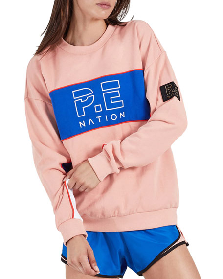 P.e Nation Sweaters SONIC LOGO PULLOVER SWEATER
