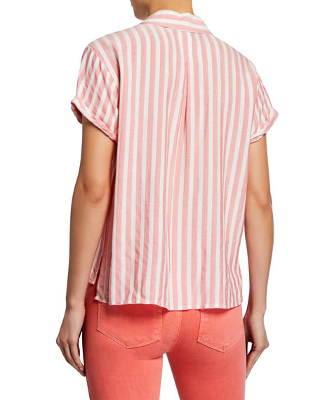 PAIGE Colwyn Striped Button-Down Shirt