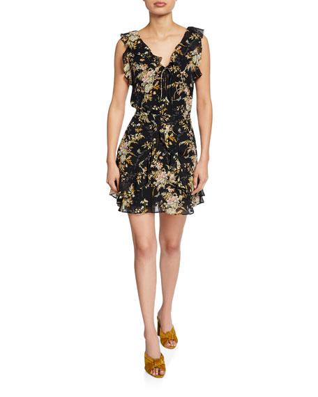 PAIGE Tia Sleeveless Ruffle Mini Dress
