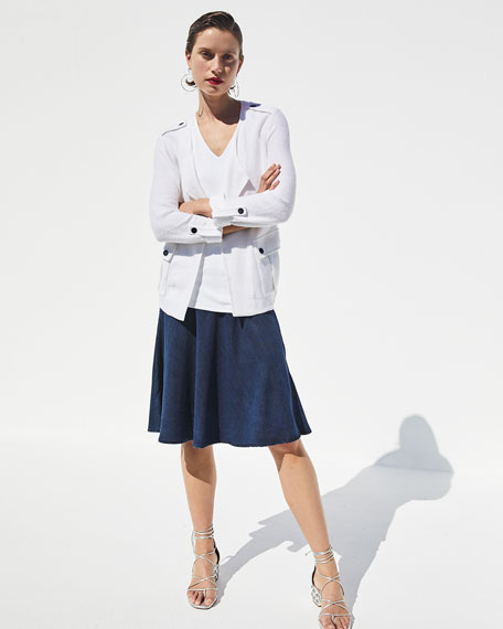 Image 2 of 4: NIC+ZOE Petite Summer Fling A-Line Denim Skirt