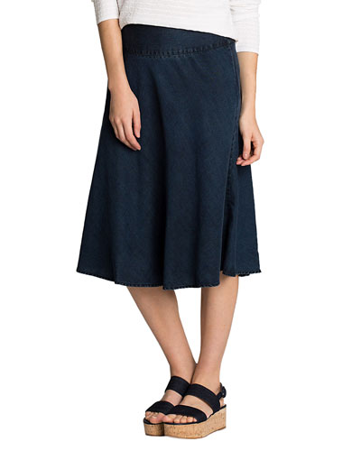 Petite Summer Fling A-Line Denim Skirt