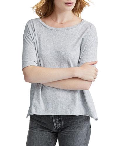 Core Half-Sleeve Essential Jersey Cotton Tee