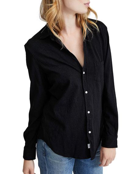 Frank & Eileen Tee Lab Button-Down Long-Sleeve Cotton Shirt, Black