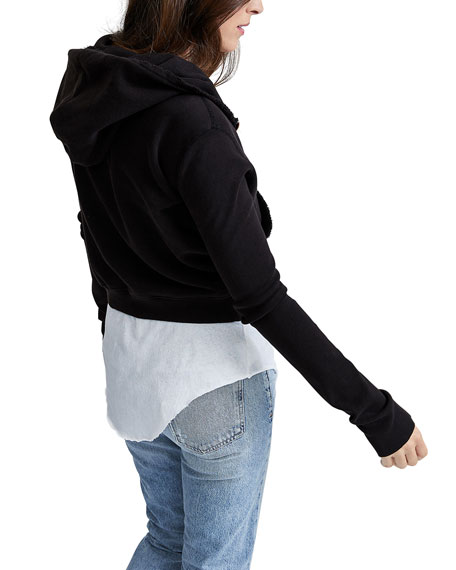 Frank & Eileen Tee Lab Zip-Front Triple Fleece Crop Hoodie Jacket