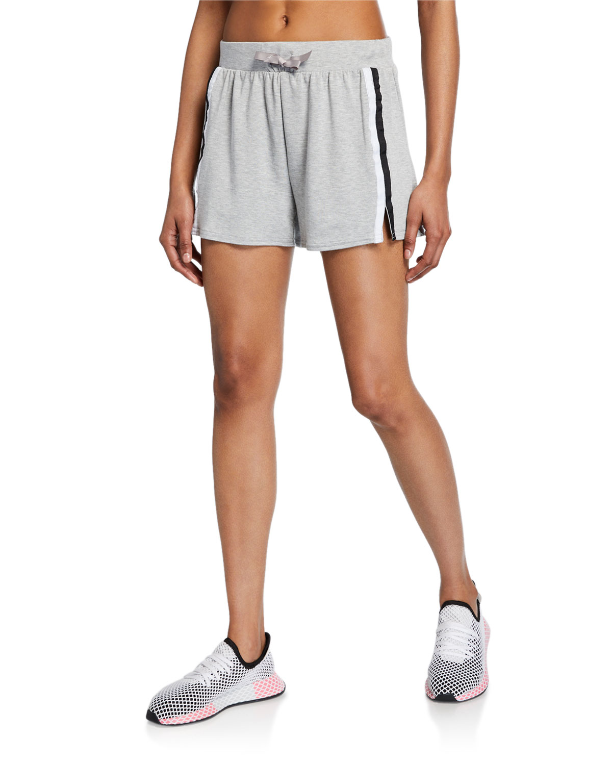 Terez Mid-Rise Striped Casual Shorts