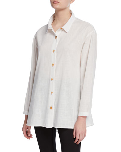 Button-Front Easy Shirt