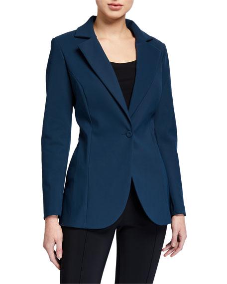 Chiara Boni La Petite Robe Lua One-Button Solid Blazer